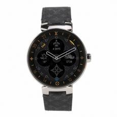001LV路易威登.智能腕表系列.正品九九新 皮带 电子男表
